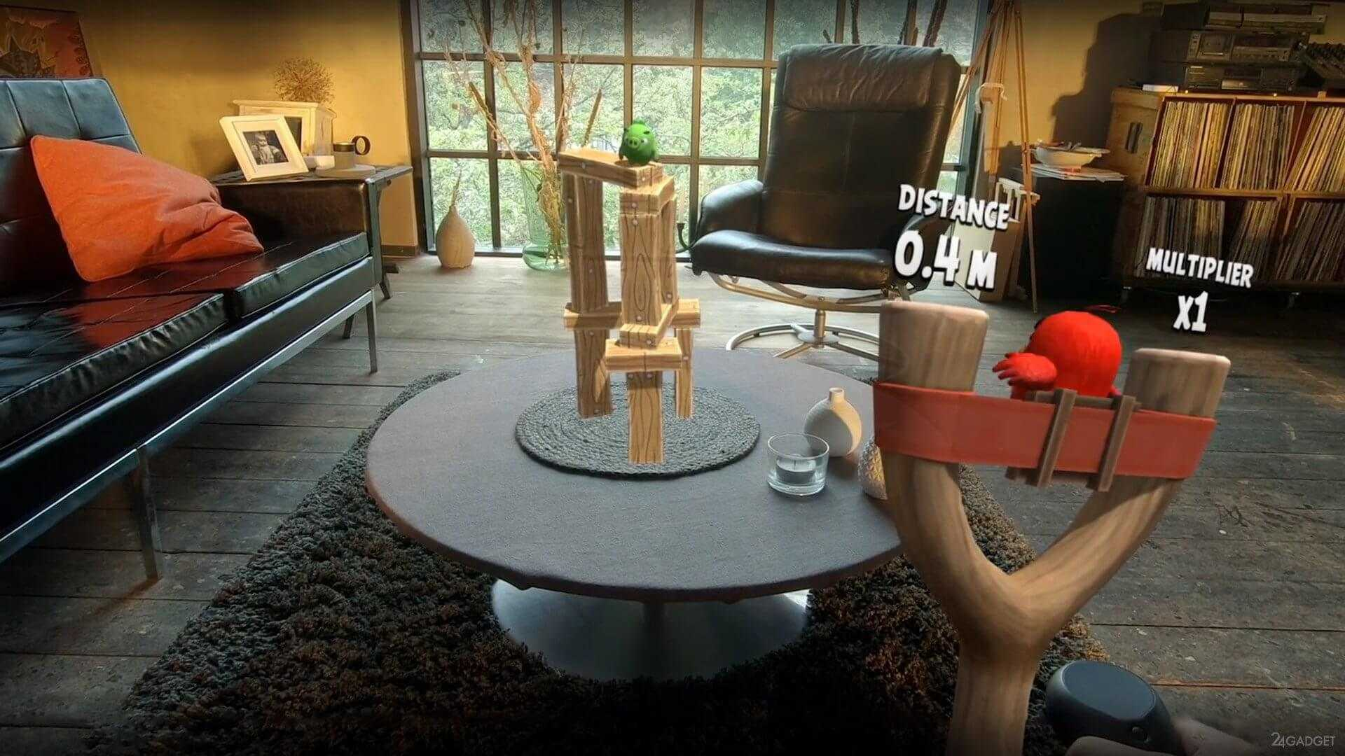 Angry birds augmented reality