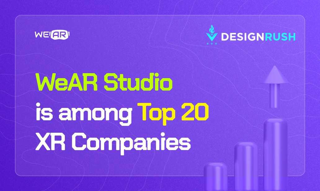 WeAR Studio is among Top 20 VR/AR Companies, According to DesignRush
